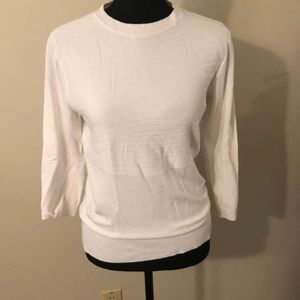 Premise Sweaters - Super cute white sweater. Very light. 3/4 sleeve